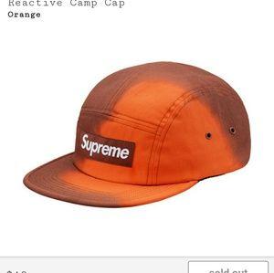 🔥Supreme reactive camp cap heat